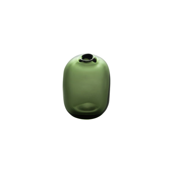 MINI VASE - Tall Rect.Stone Vase, Forest Green