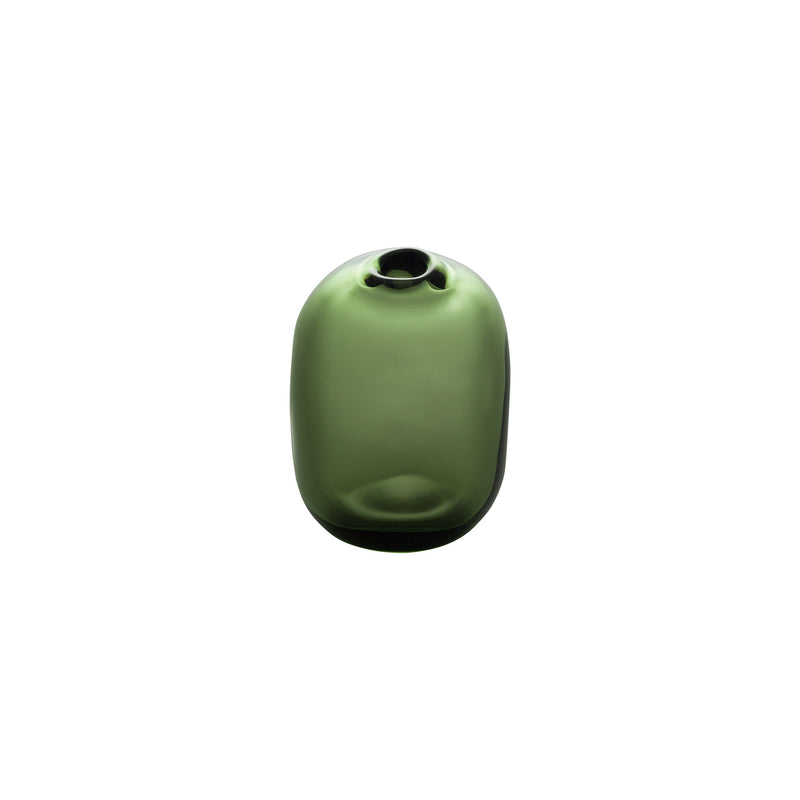 Tall Rect.Stone Vase - Forest Green