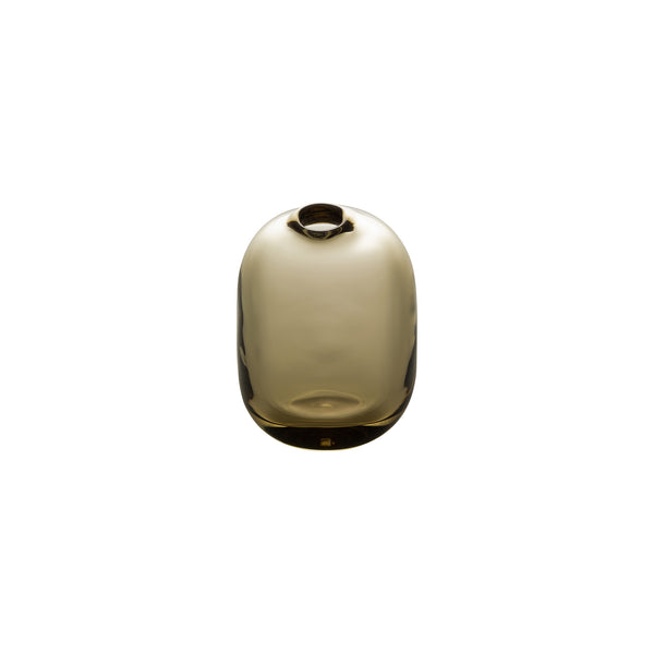 MINI VASE - Tall Rect.Stone Vase, Tan