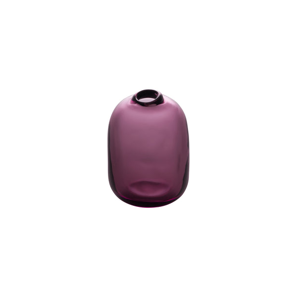 MINI VASE - Tall Rect.Stone Vase, Wine Red