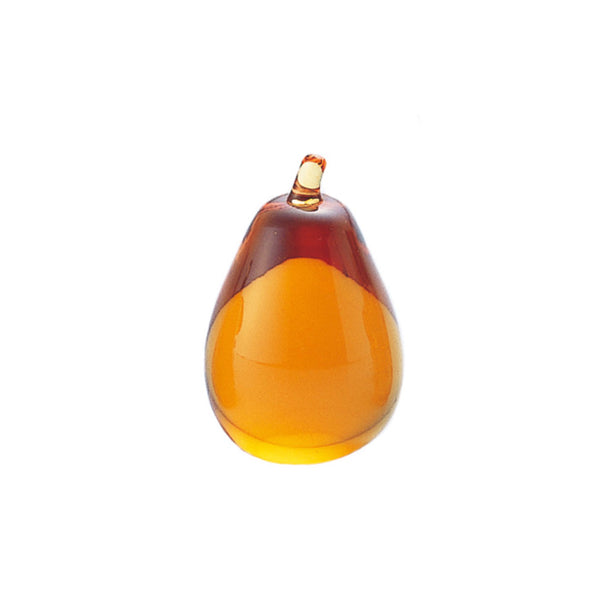 ORNAMENT - Pear Amber, 2.7inch
