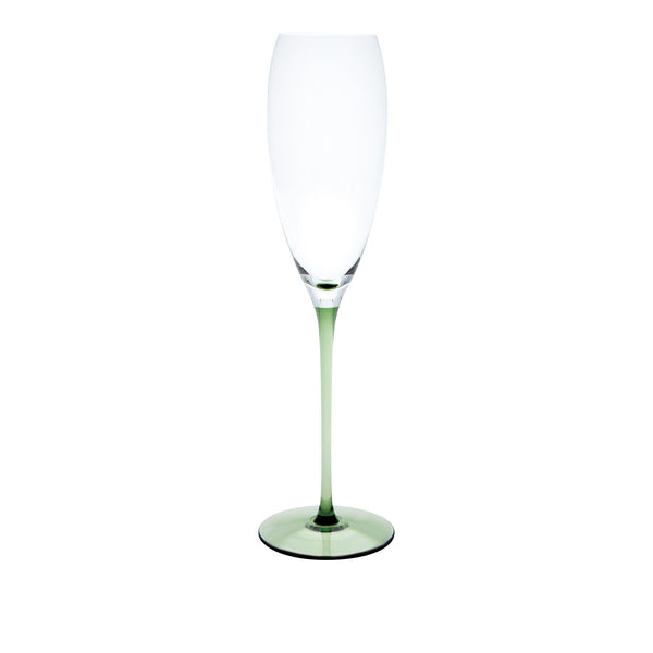 RISICARE - Champagne Glass Forest Green, 6.1oz