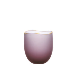 SAKI - Bowl Wine Red Frosted, 2.0inch