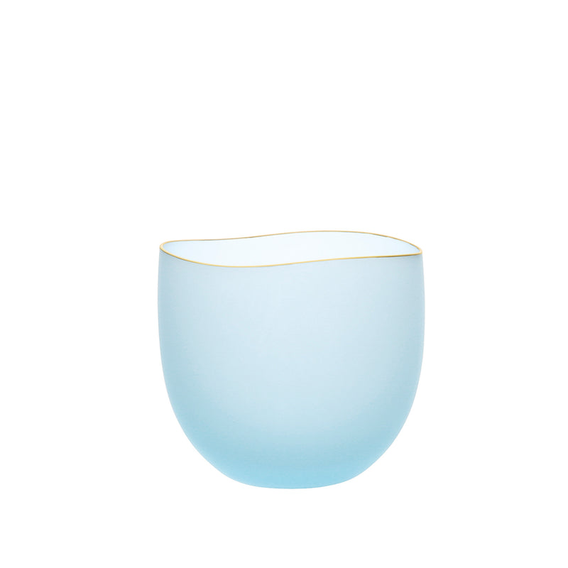 SAKI - Bowl Blue Frosted, 2.6inch