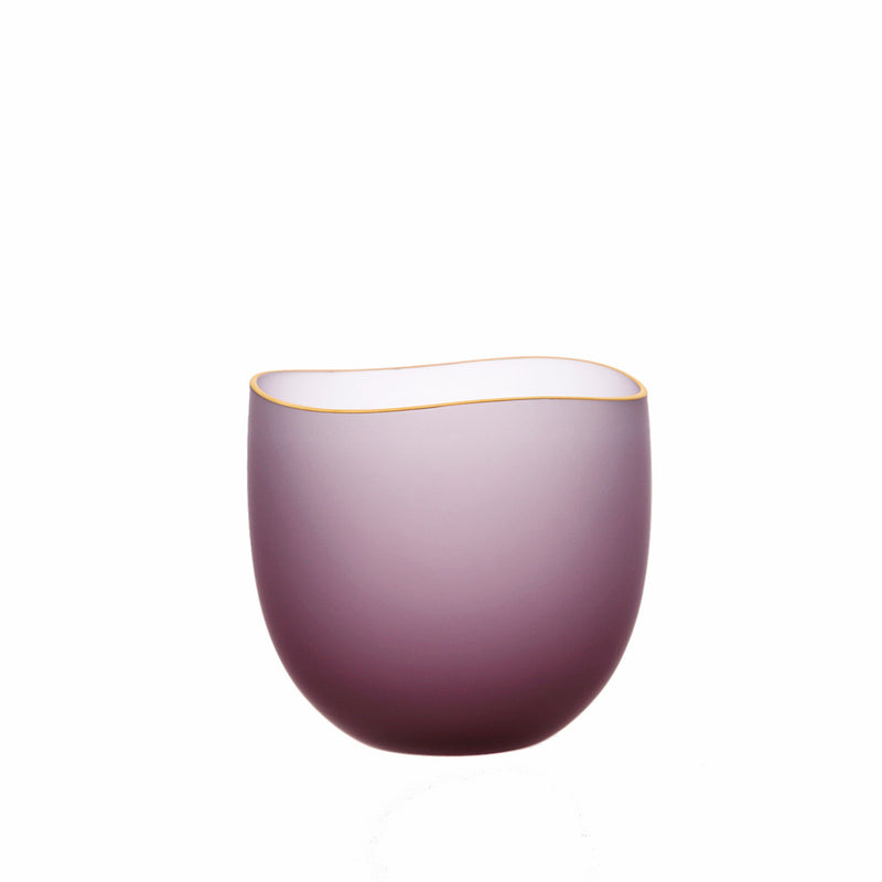 SAKI - Bowl Wine Red Frosted, 2.6inch