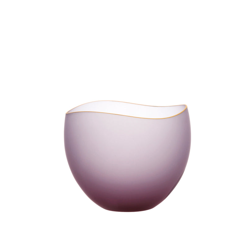SAKI - Bowl Wine Red Frosted, 3.0inch
