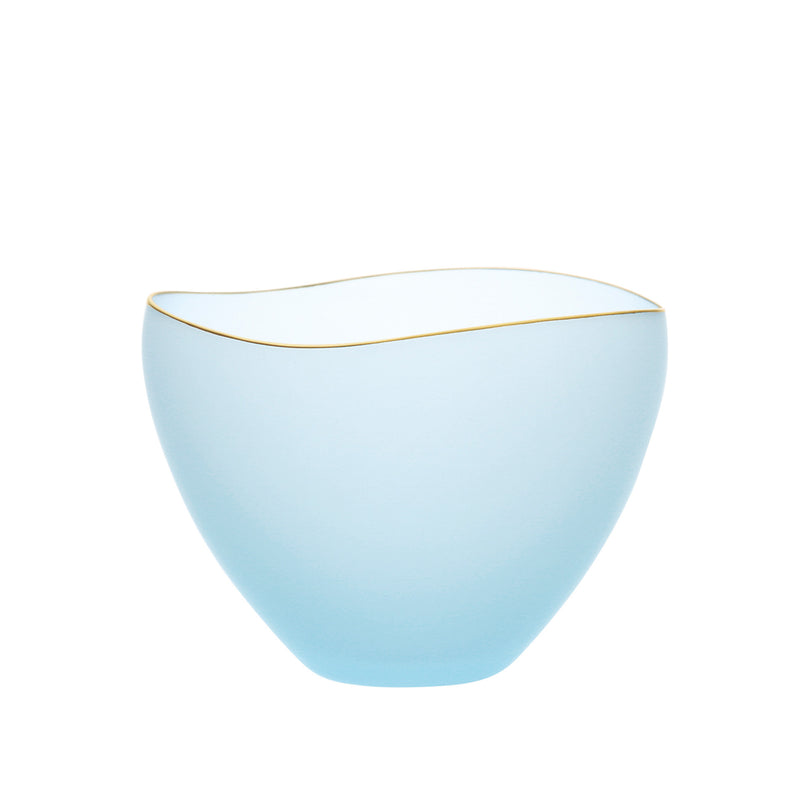 SAKI - Bowl Blue Frosted, 3.7inch