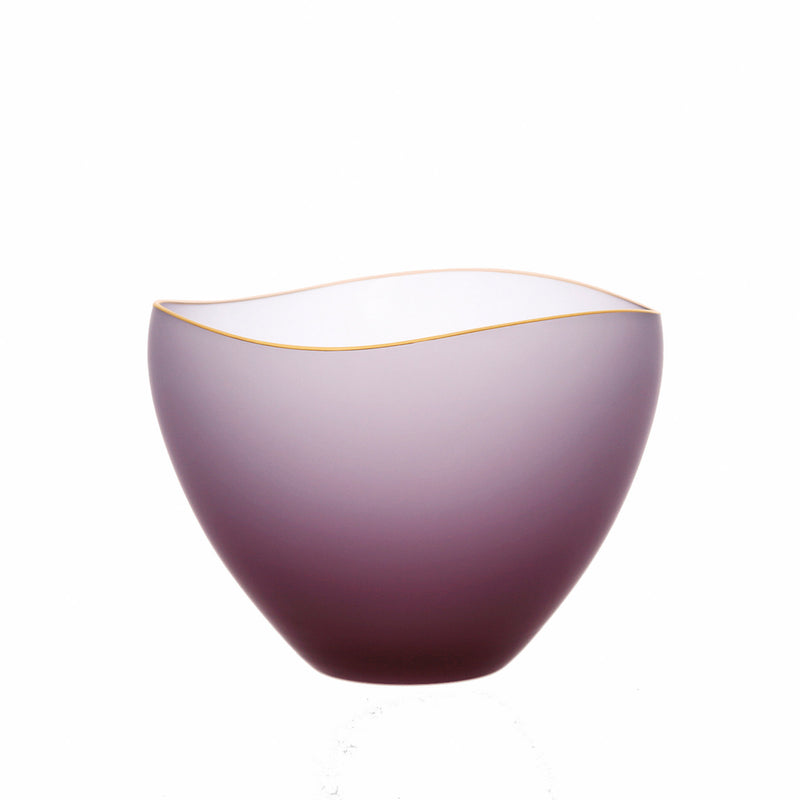SAKI - Bowl Wine Red Frosted, 3.7inch