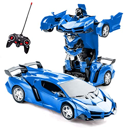 Cars For 10 Year Olds >> Refasy Remote Control Toys For Kids Birthday Toys For 5 12 Year Old Hobby Rc Robot Car Toy Great Deformation Car Deformation Toy For 6 10 Year Old