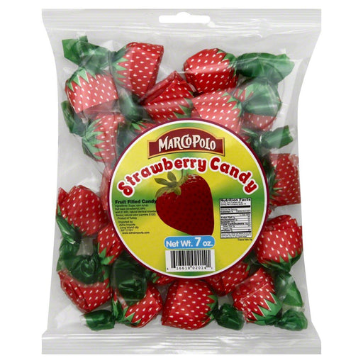 MARCO POLO, CANDY HARD STRAWBERRY, 7 OZ, (Pack of 24)