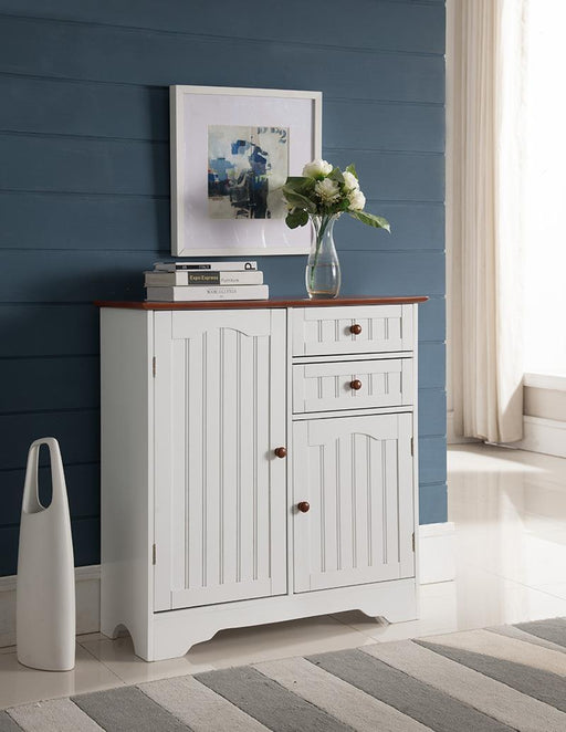 K111 White Wood Kitchen Storage Cabinet