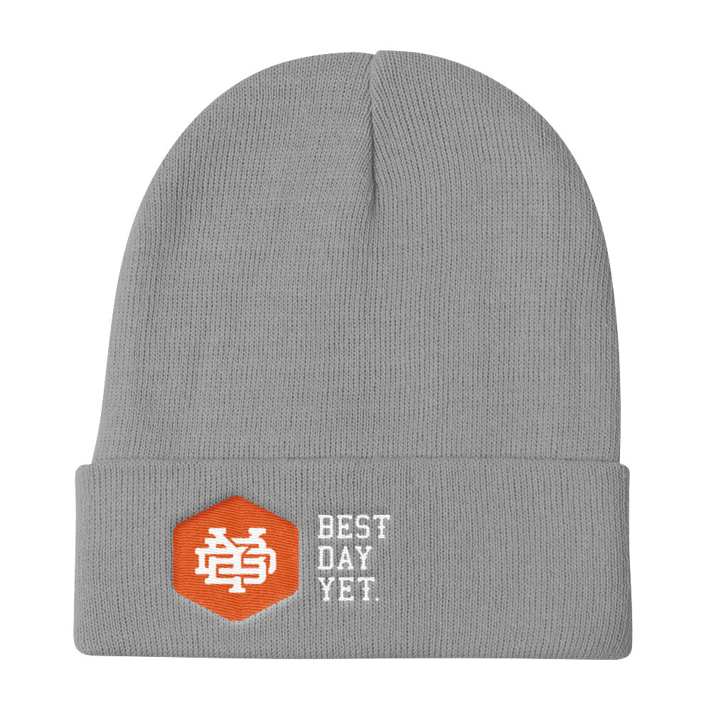 BDY Hex Monogram Knit Beanie (Orange) – best day yet dcfde9a0026