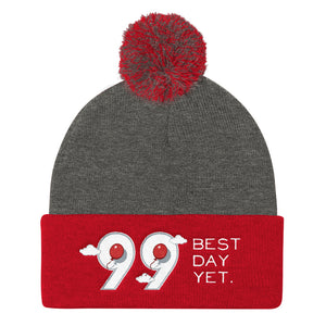 99 Balloons Pom Knit Beanie