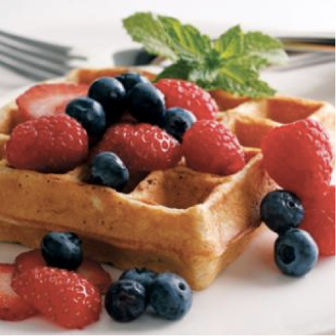 Waffle Wednesday. A Waistline-Friendly Version of this Childhood Favorite