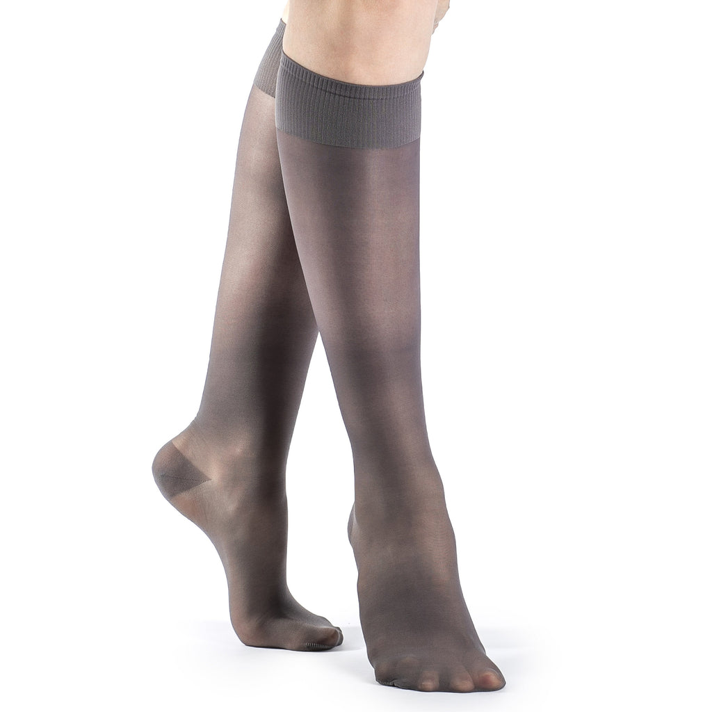 Sigvaris Women's Sheer Fashion Knee High, Charcoal