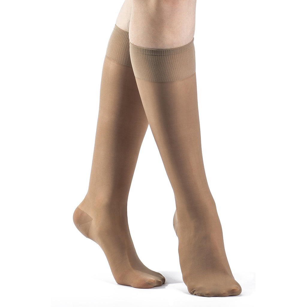 Sigvaris Women's Sheer Fashion Knee High, Taupe