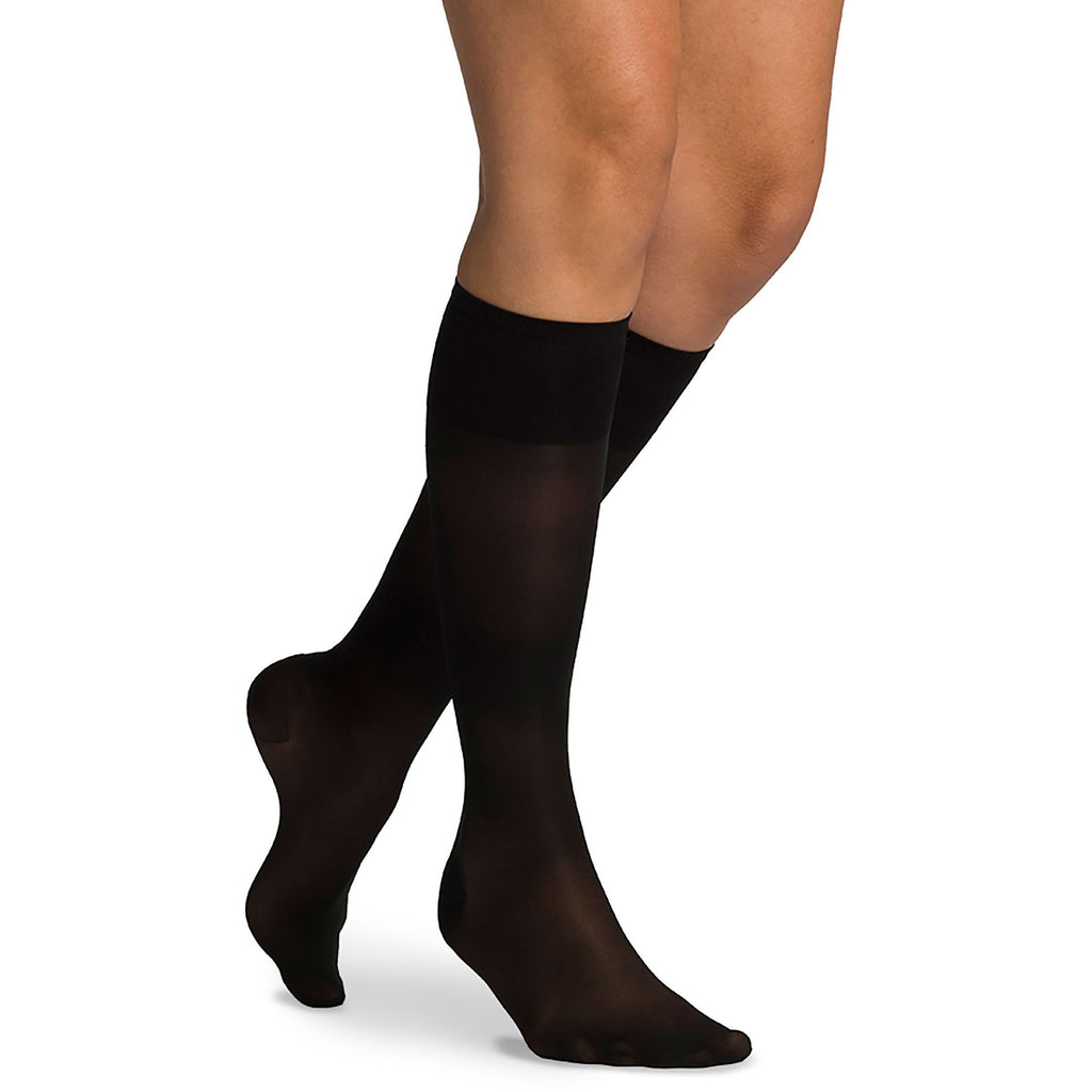 Sigvaris Women's Sheer Fashion Knee High, Black