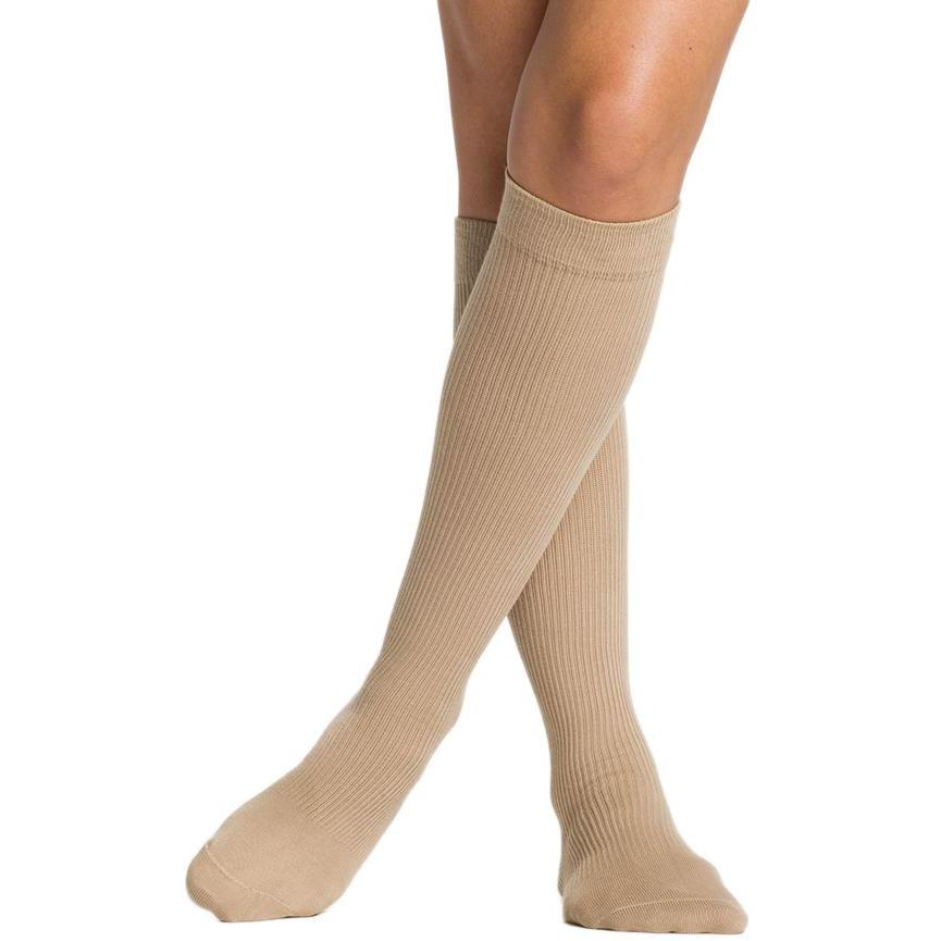 Sigvaris Women's Casual Cotton Knee High, Khaki