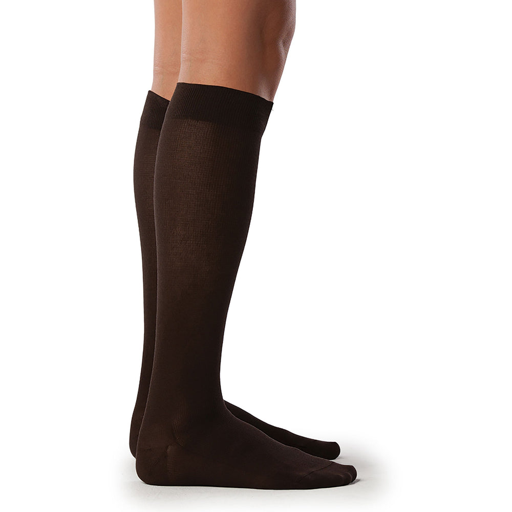 Sigvaris Women's Sea Island Cotton Knee High C/T, Brown