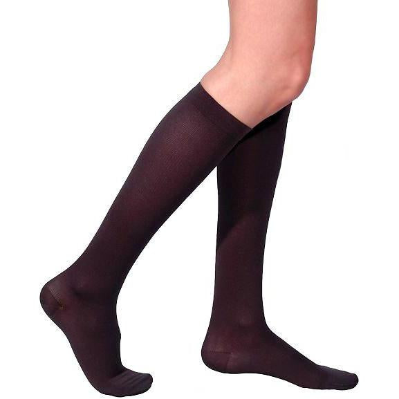 Sigvaris Women's Cotton Knee High, Black Mist