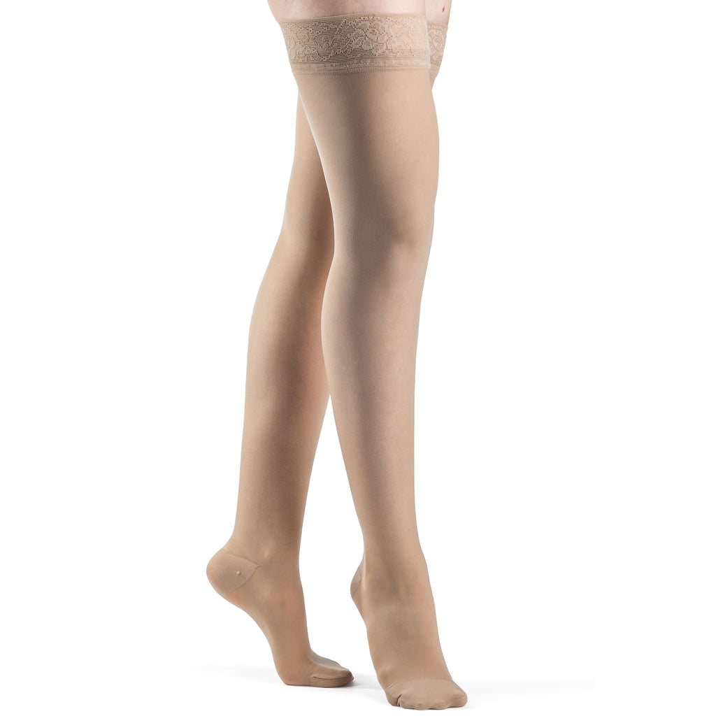 Sigvaris Women's Sheer Thigh High, Natural
