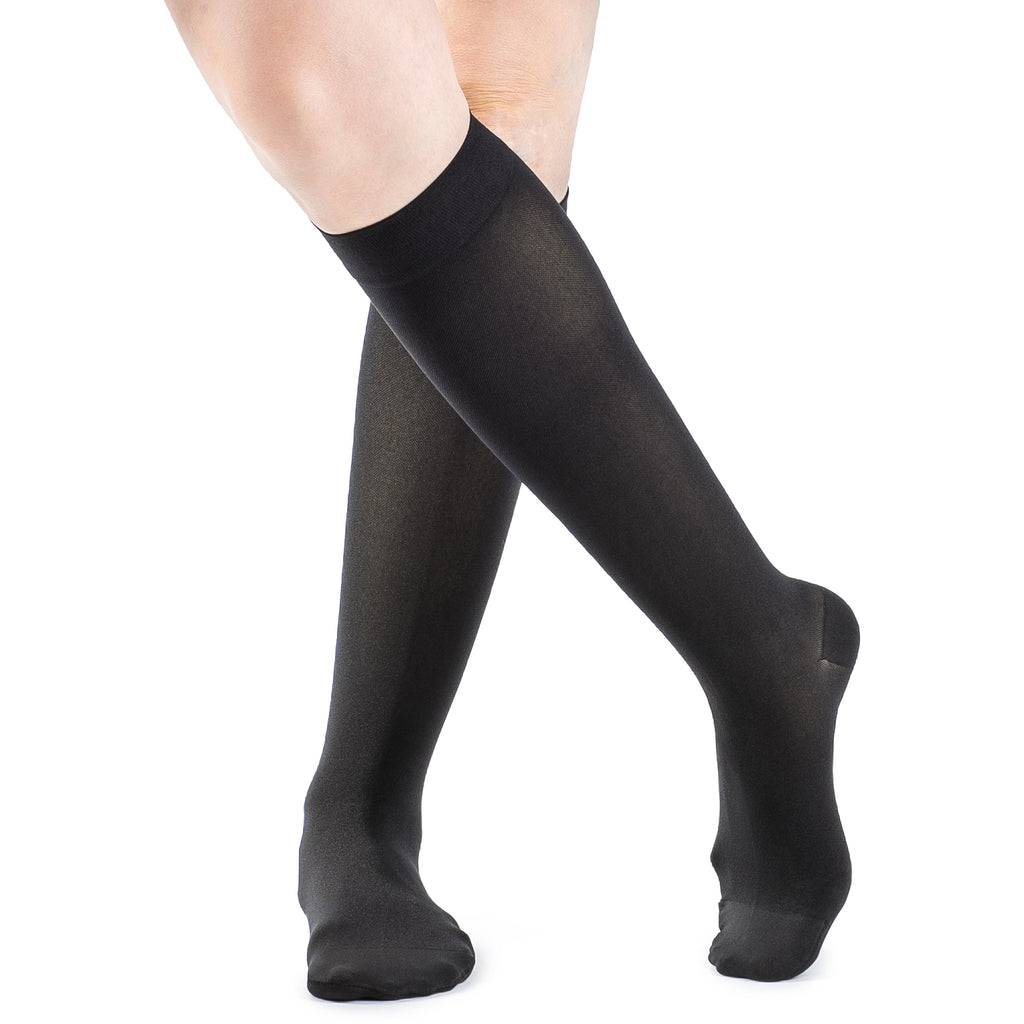 Sigvaris Women's Soft Opaque Knee High, Black