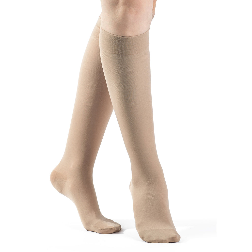 Sigvaris Women's Opaque Knee High, Natural