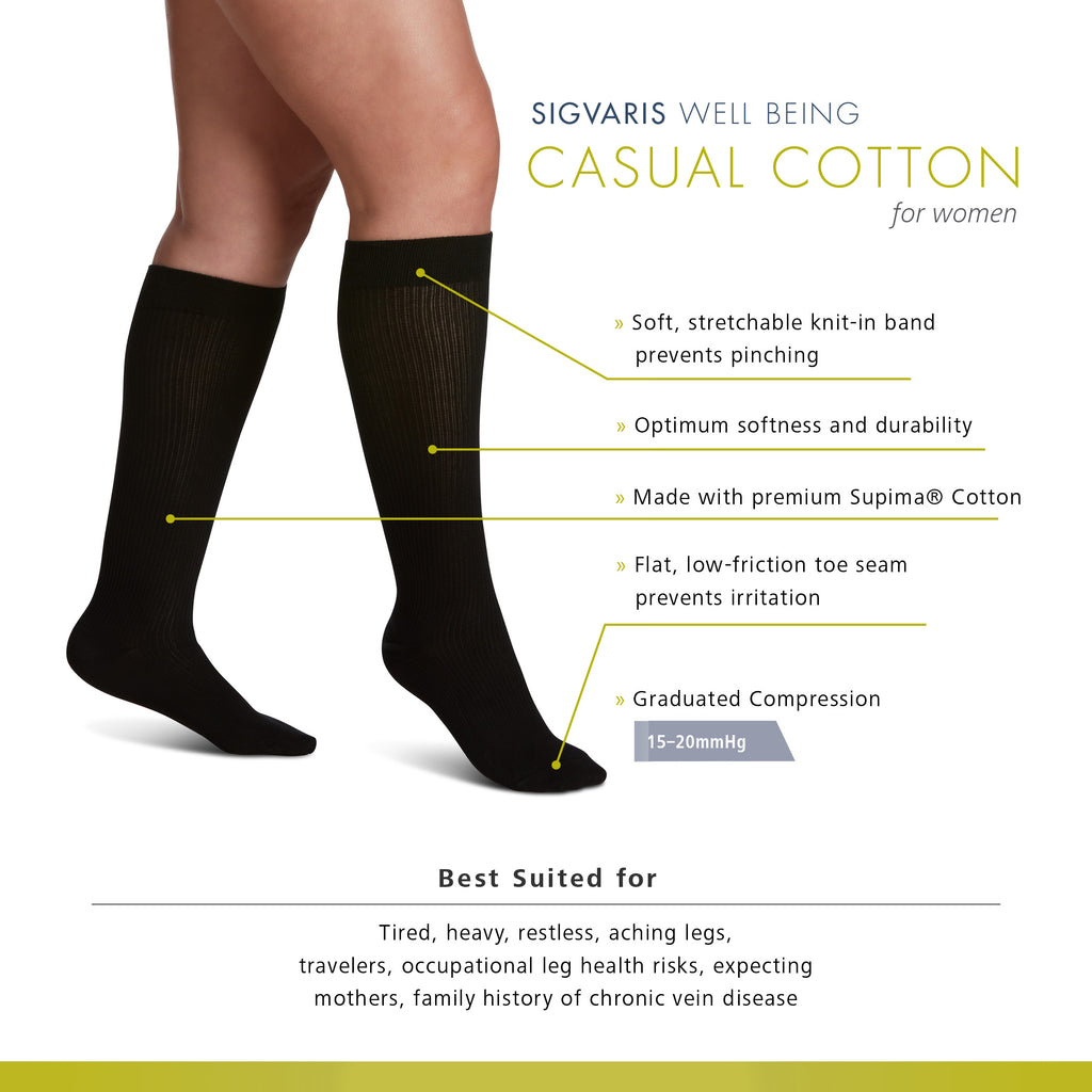 Sigvaris Women's Casual Cotton Features