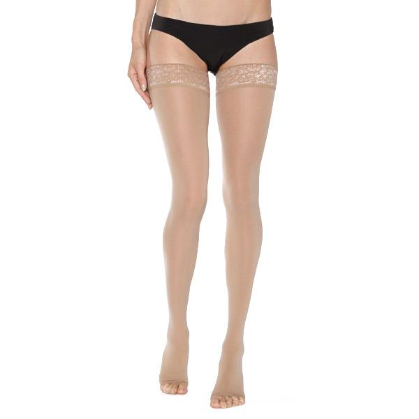 Mediven Comfort Thigh High, Open Toe, Lace Band