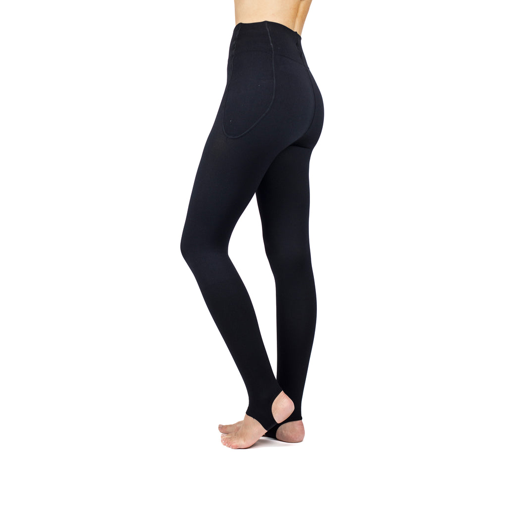 RejuvaWear® Black Stirrup Legging, Side View