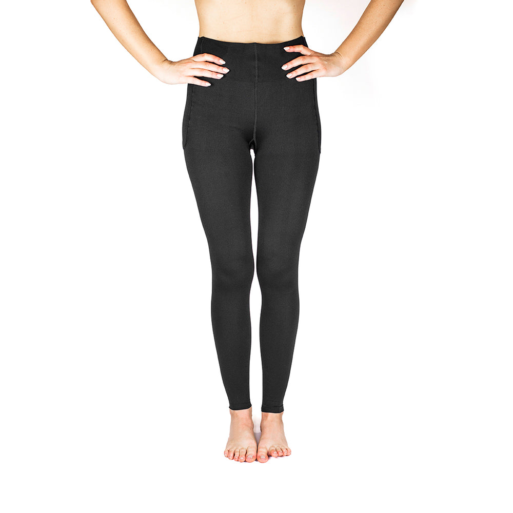 RejuvaWear® Black Footless Legging