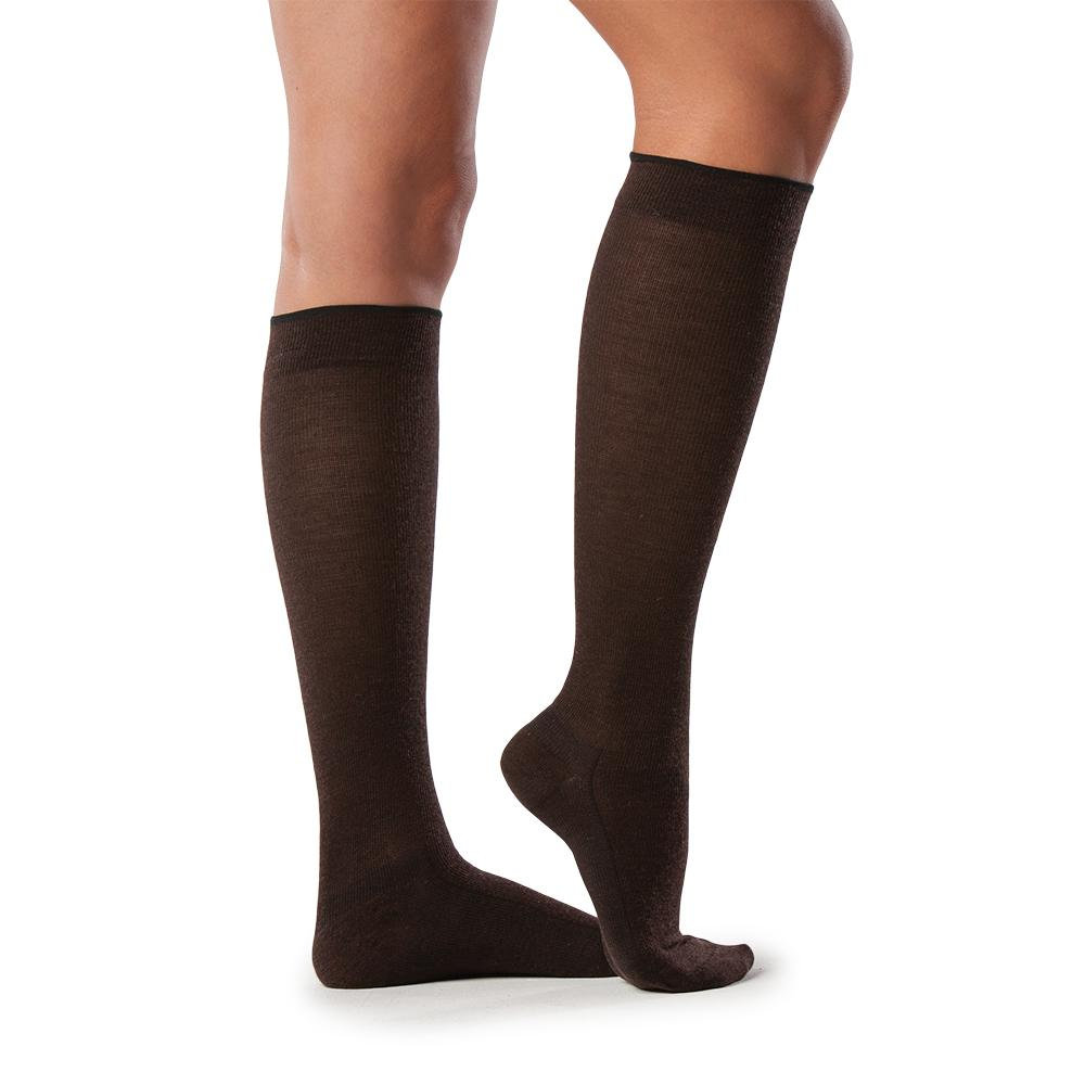Sigvaris All-Season Merino Wool Socks, Brown
