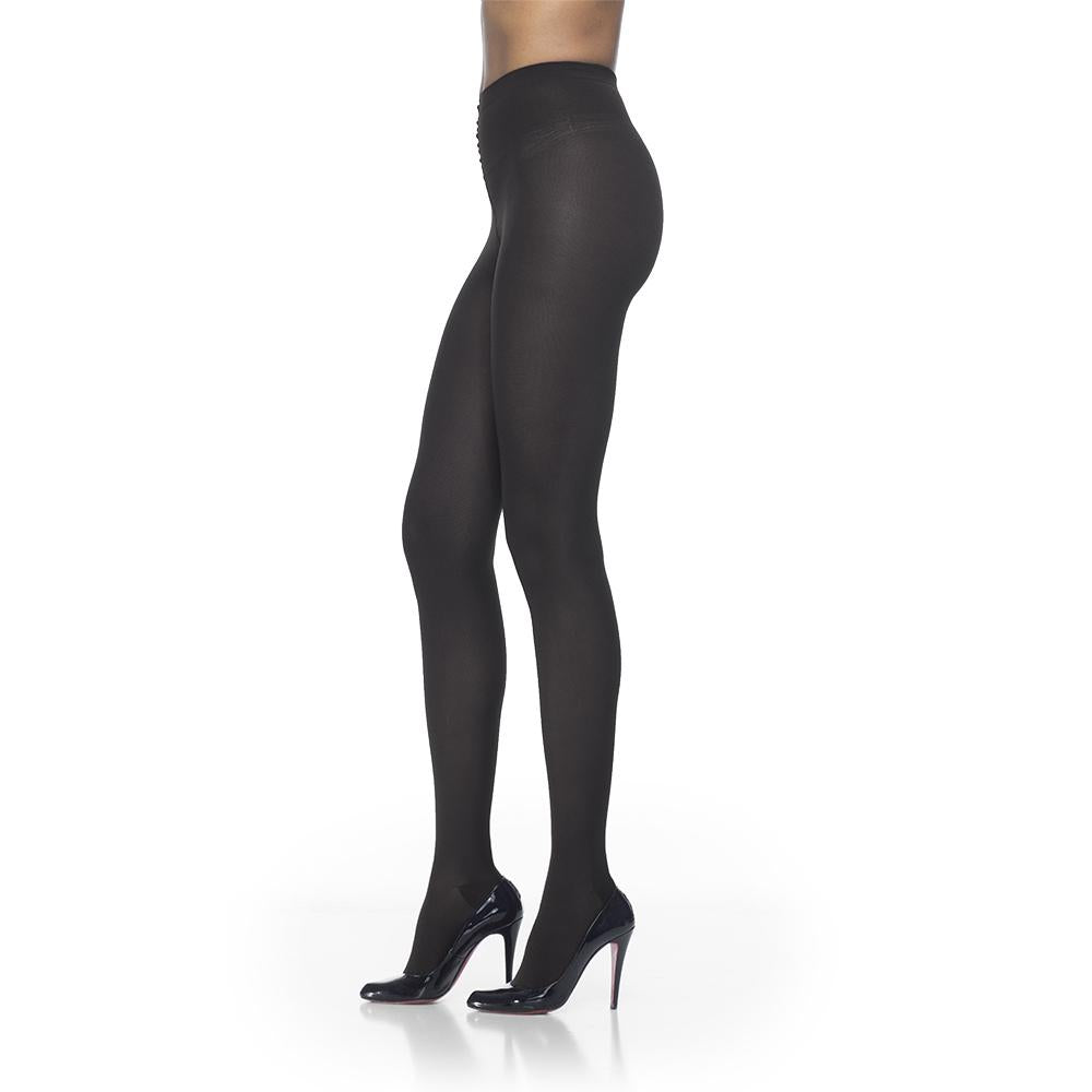 Sigvaris Women's Soft Opaque Pantyhose, Black