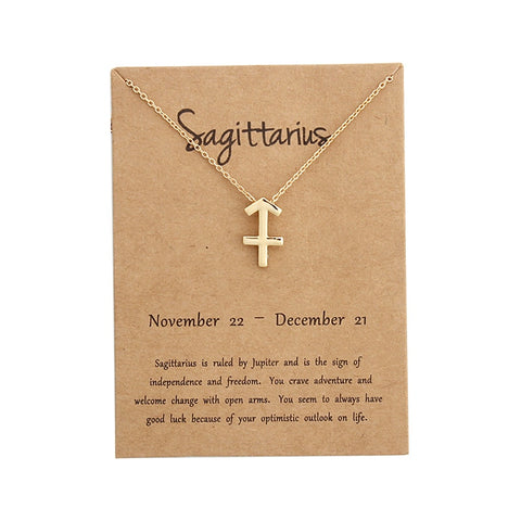 Image of Zodiac Sign Pendant Necklace