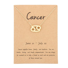 Load image into Gallery viewer, Zodiac Sign Pendant Necklace