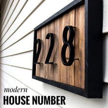 Load image into Gallery viewer, Modern Elevated-Mount House Number