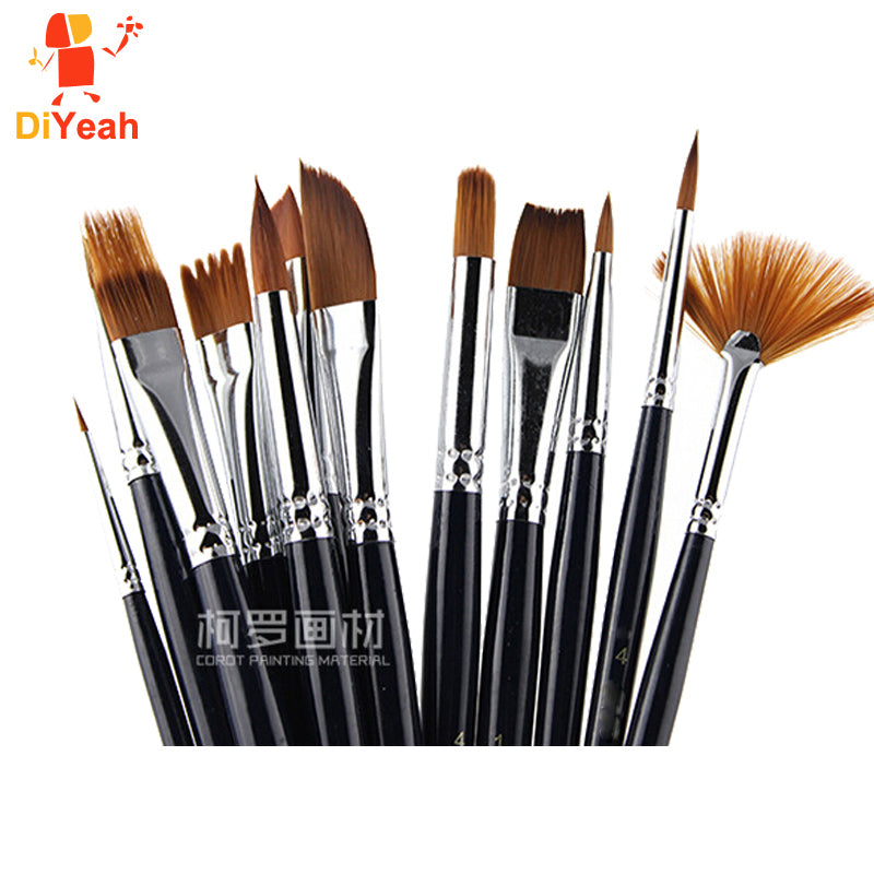 Professional Nylon Hair Paint Face Brush Set