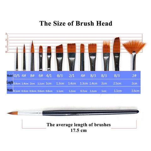 Image of Professional Nylon Hair Paint Face Brush Set