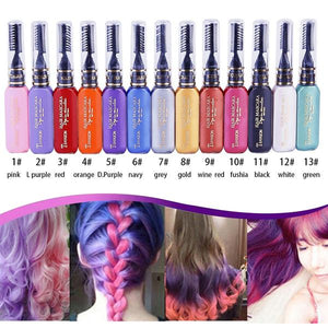 Temporary Fun Hair Color - Non-toxic DIY Hair Color Mascara