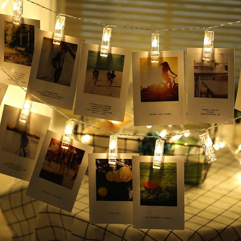 Image of Twinkle lights with Photo Clip holder