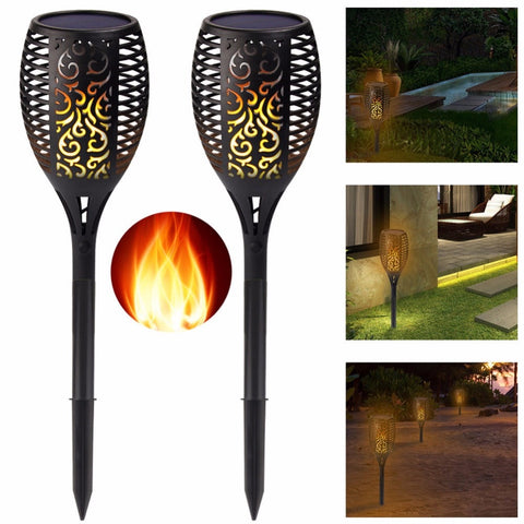 Pack Solar Tiki Torch Lights LED