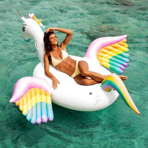 Image of Giant Pegasus Inflatable Unicorn Pool Float