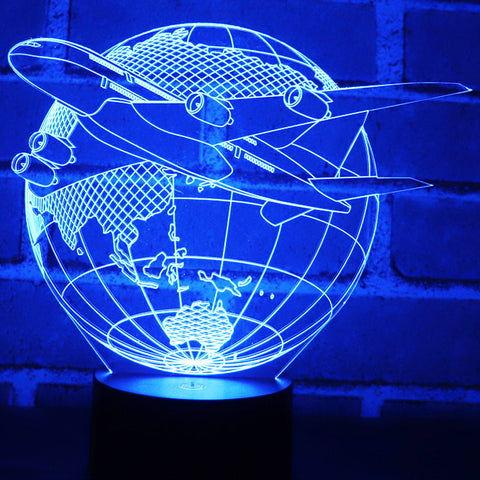 Image of 3D Aircraft Earth Led Night Light