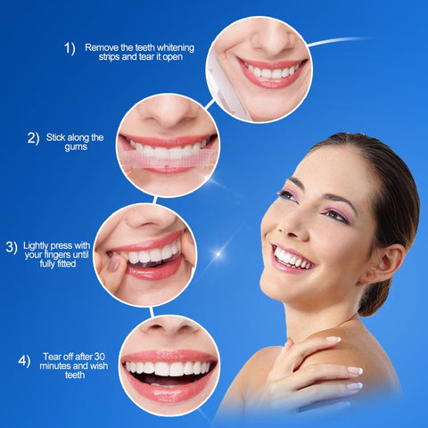 Image of 3D Tooth Bleaching Whiter Strips Essentials Gel