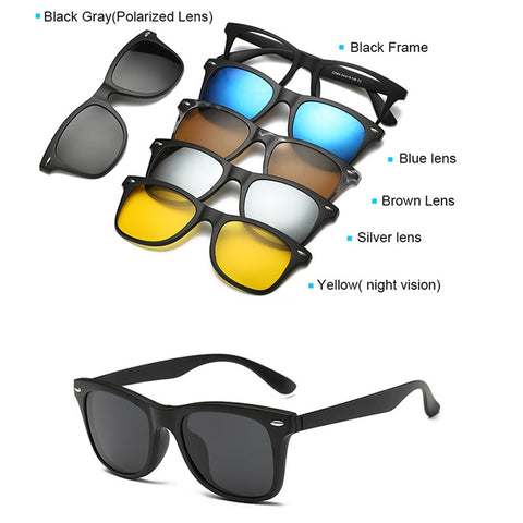Magnetic Lens Swappable Sunglasses,