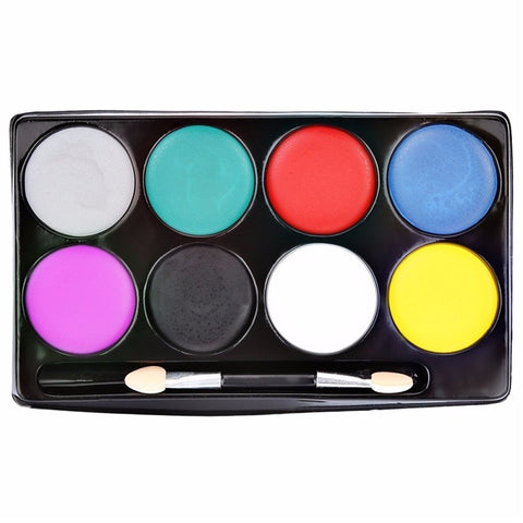 Image of 8 Colors  Halloween Non-toxic Water Face Paint