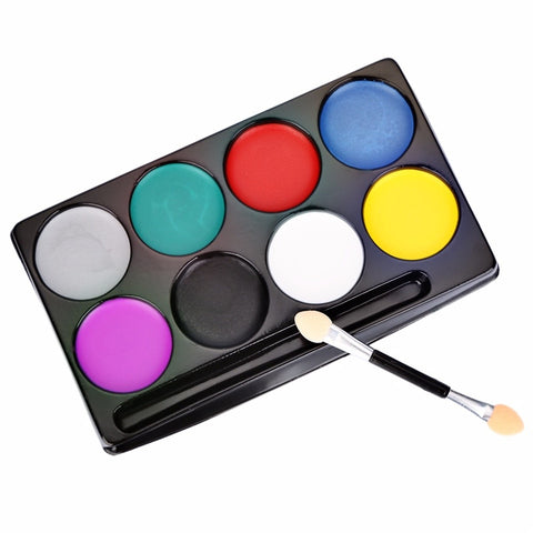 8 Colors  Halloween Non-toxic Water Face Paint
