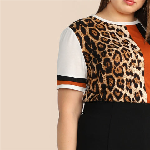Image of Leopard Print Blouse