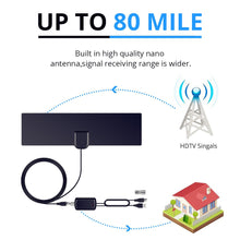 Load image into Gallery viewer, HDTV Indoor Signal Booster Antenna with Amplifier