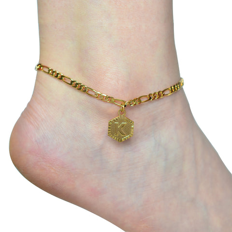 Image of A - Z Initial Letter Anklet
